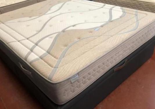 Canape polipiel gris nuevo 160x200+colchon visco