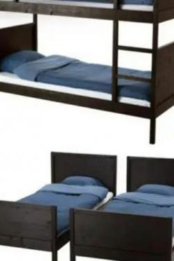 Cama litera o 2 camas indivisuales modelo norddal