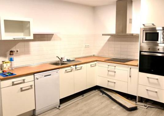 Cocina con muebles de cocina