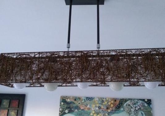 Lampara de techo bambu.perfecto estado