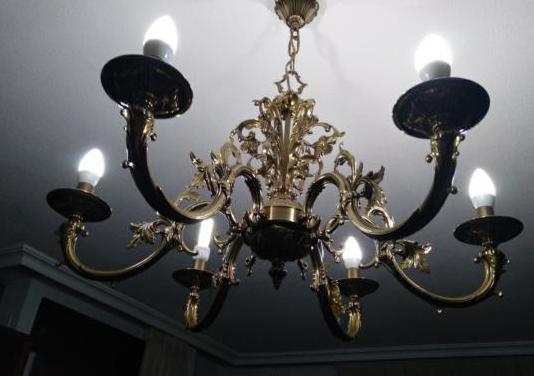 Lámpara araña techo clásica