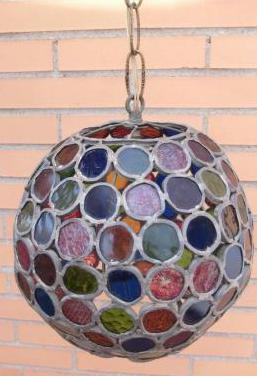 Lámpara cristales colores méxico