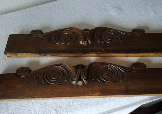 Molduras o copetes antiguos madera