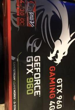 Nvidia gtx 960 msi gaming 4g