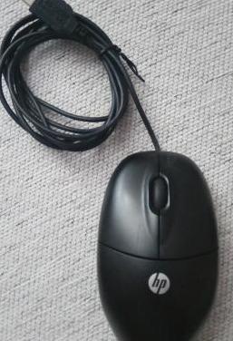 Ratón óptico con cable hp
