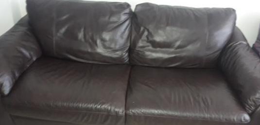 Sofá cama de piel 3 plazas