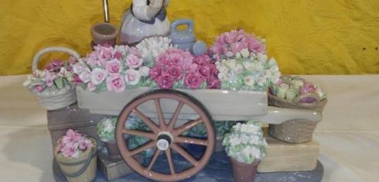 El puesto de flores lladro