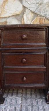 Mesilla antigua madera 45 cm por 37 cm