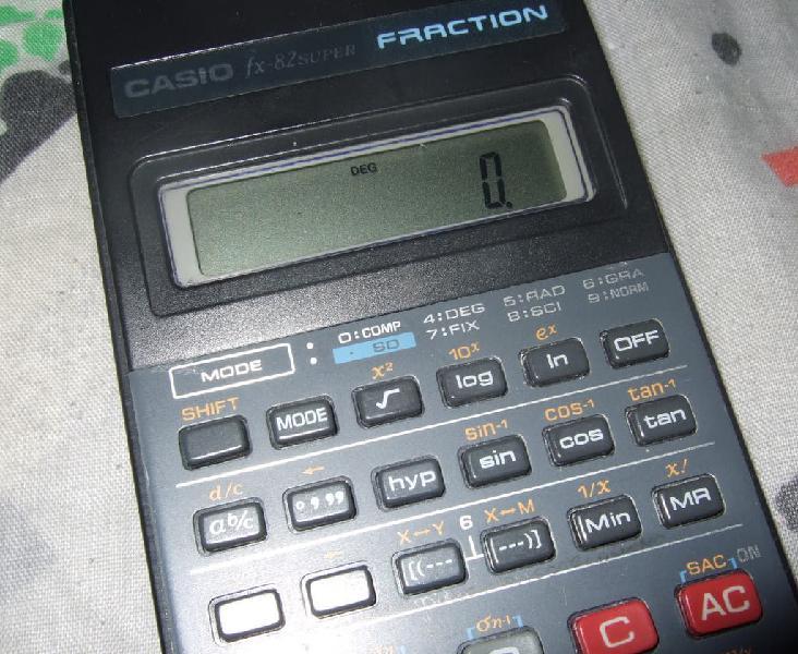 Calculadora casio cientifica (funcionando)