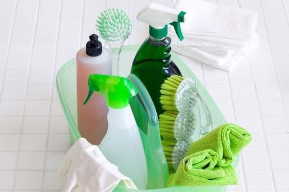 Chica para limpieza plancha