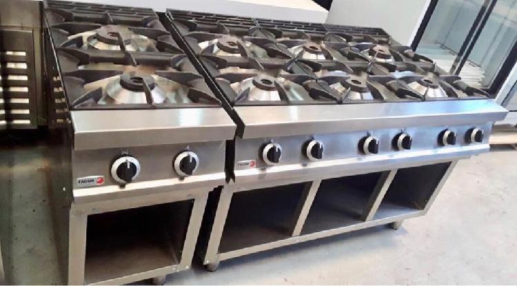 Cocina industrial de 2 fuegos fagor