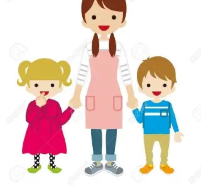 Cuidadora niños