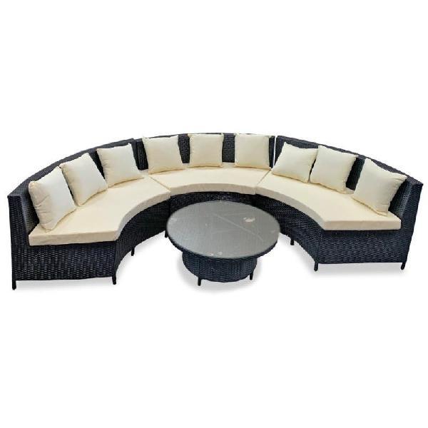 Conjunto sofá ratán + mesa pai
