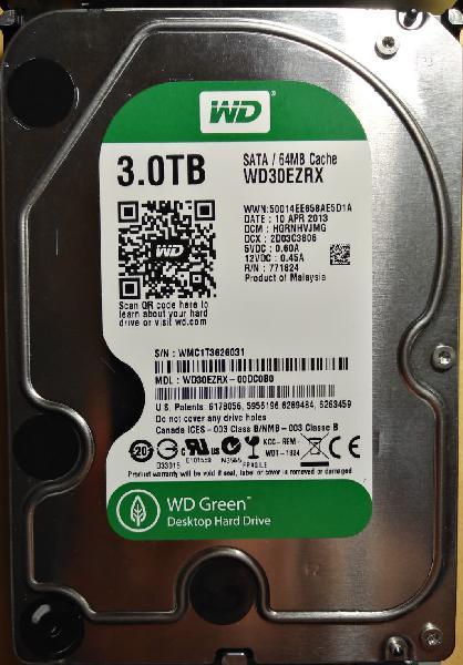 DISCO DURO HDD WD30EZRX 3TB