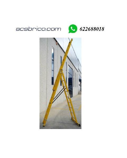 Escaleras fibra 3 tramos travesaño