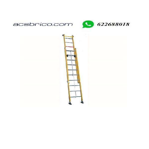 Escaleras fibra cuerda 2 tramos
