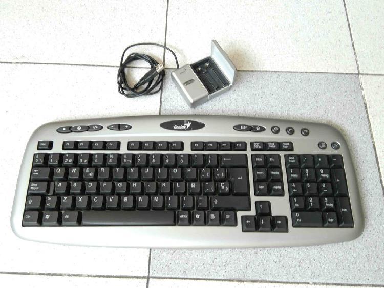 Genius teclado inalambrico multimedia + cargador