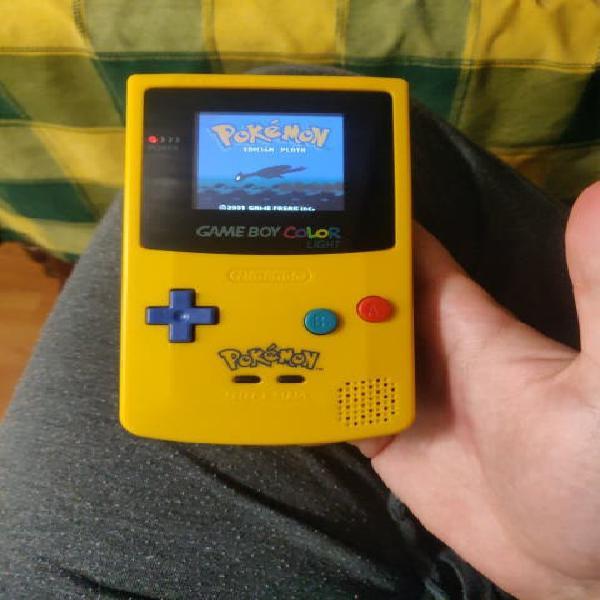 Game boy color pokemon pantalla retroiluminada