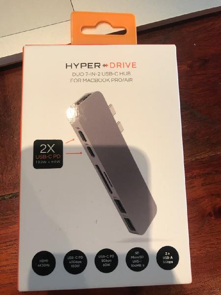 Hyper drive duo 7 in 2 usb c macbook pro air