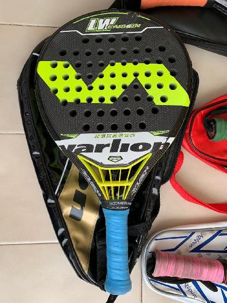 Lote de raquetas, palas de padel y paleteros