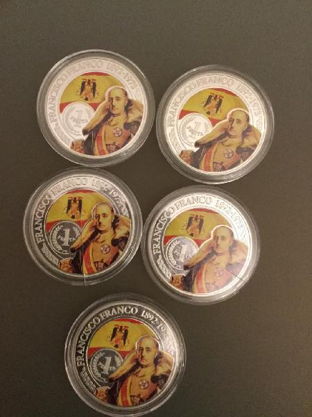 Lote monedas color francisco franco