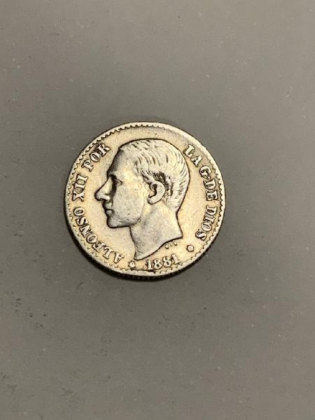 Moneda plata 50 centimos 1881 *81 alfonso xii