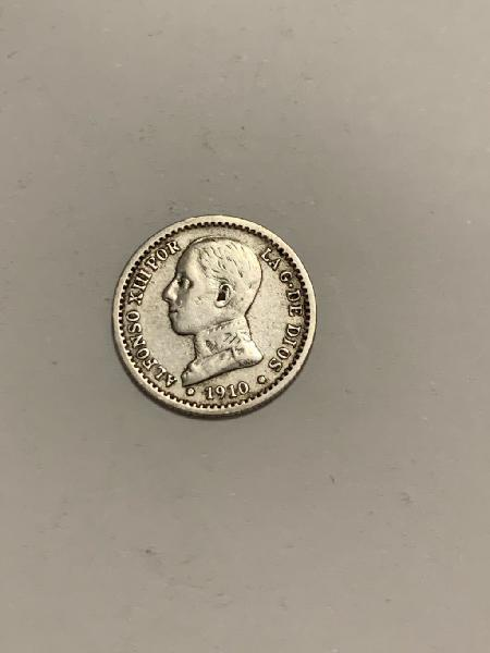 Moneda plata 50 centimos 1910 *10 alfonso xiii