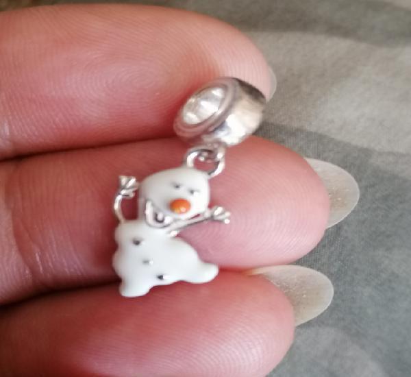 Olaf abalorio de plata 925 marcado para cadena o pulsera