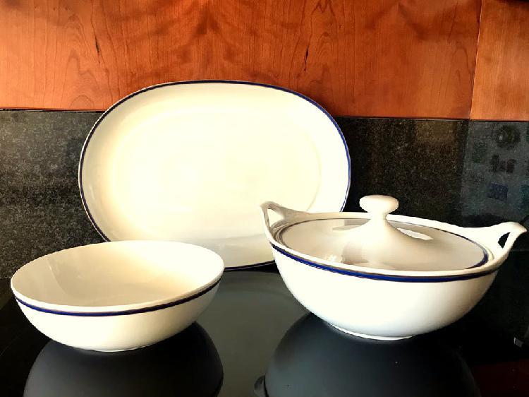 Piezas vajilla noble porcelana bidasoa
