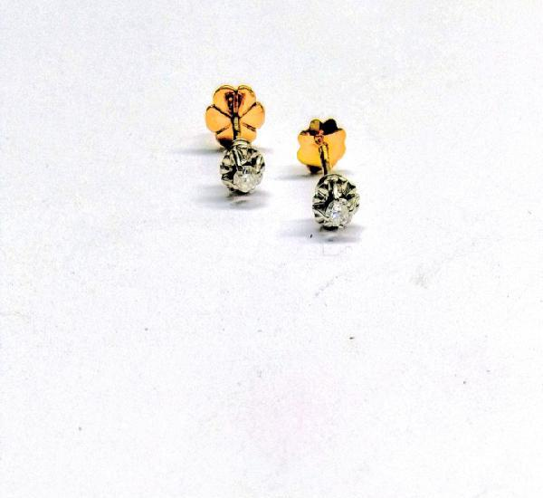 Pendientes oro blanco 18k - 1,6 g. - btes.0,14qts.