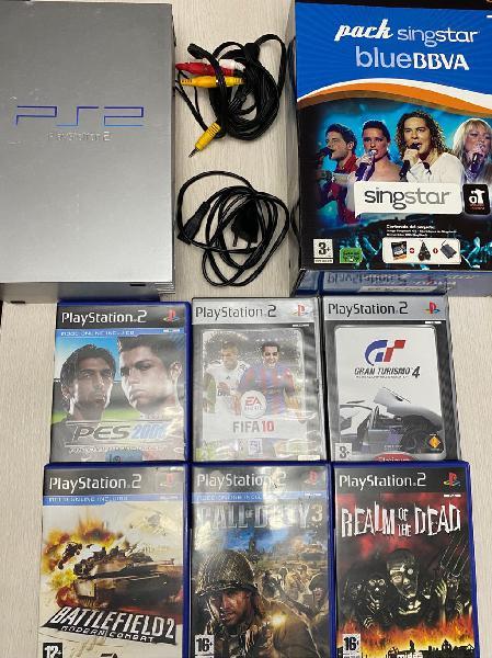 Play station 2 + 7 juegos