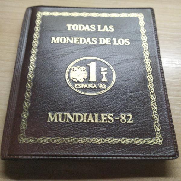 Prueba numismática. todas las pesetas mundial 82