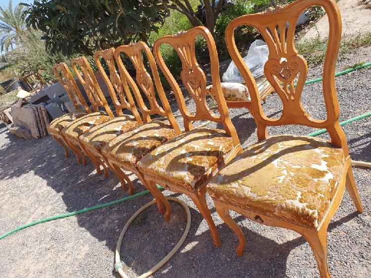 Sillas madera maciza años 40