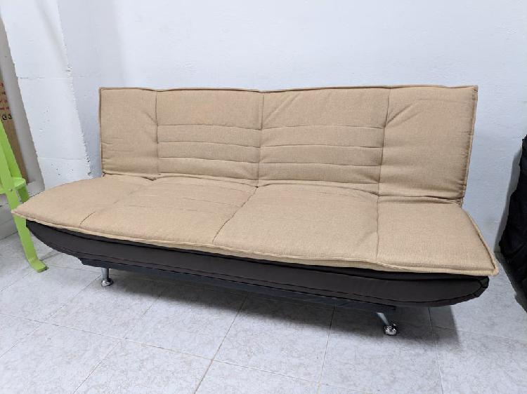 Sofa cama tela y polipiel