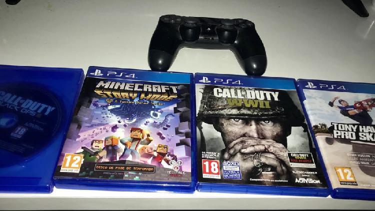Vendo mando play y juegos ps4