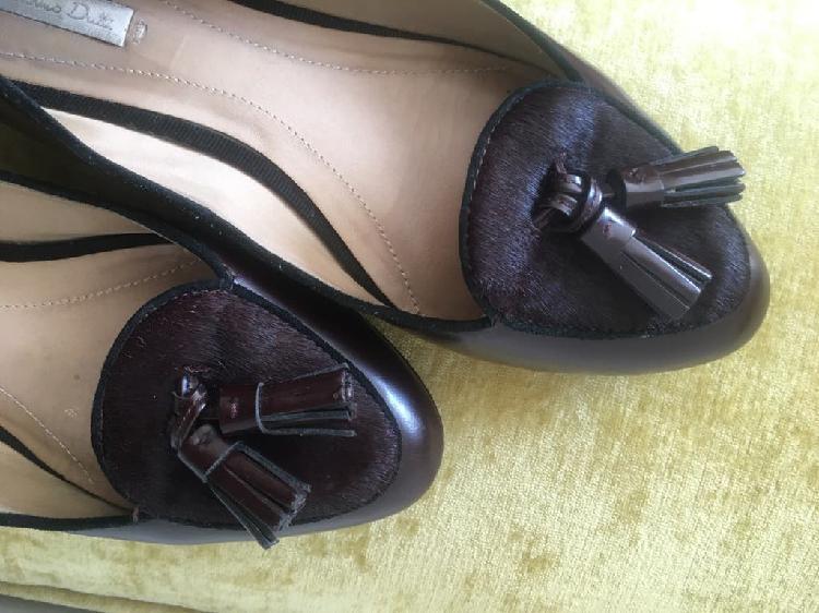 Zapatos chica color burdeos