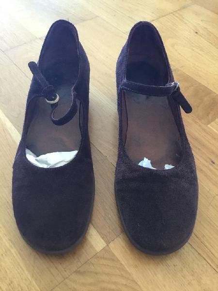 Zapatos de ante marron