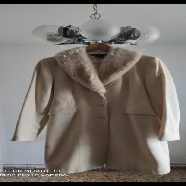 Abrigo blanco de zara