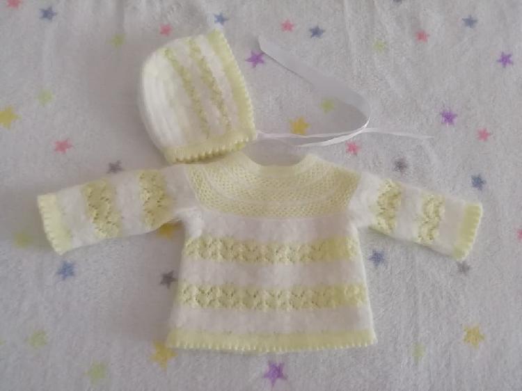 Conjunto jersey y capota punto bebe