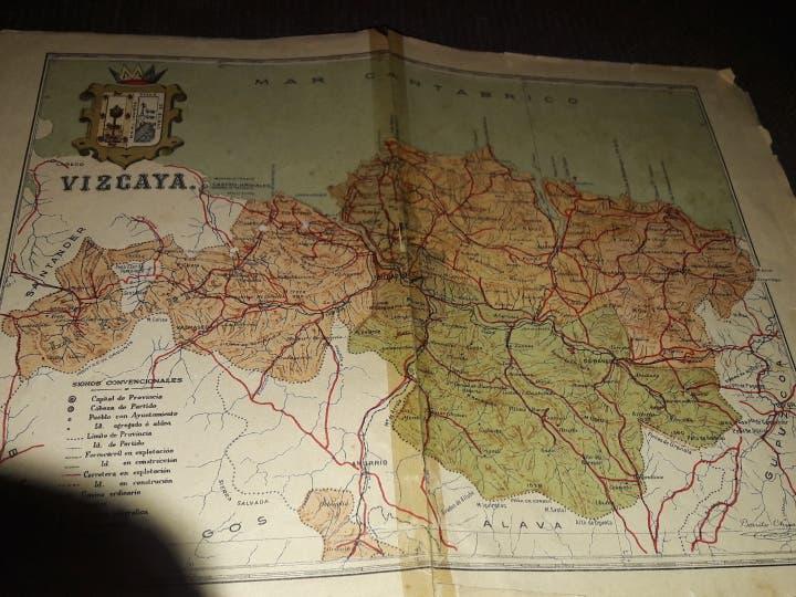 Plano de vizcaia y de bilbao.año 1920.