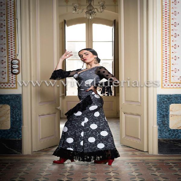 Falda baile flamenco larga estampada sarnen