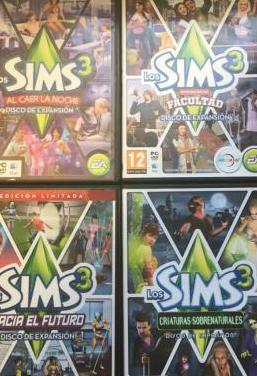 Los sims 3 pc 4 discos de expansión
