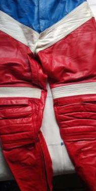Pantalon de cuero moto mujer