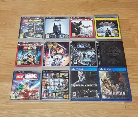 Pack de juegos de ps3 y ps4