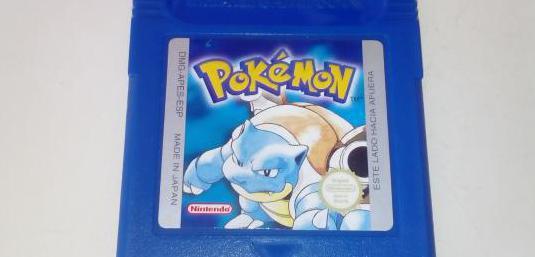 Pokemon edición azul, game boy