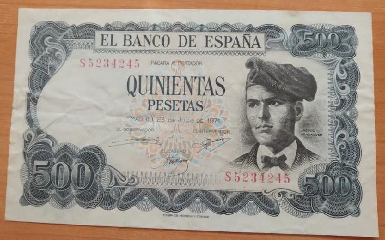 Billetes 500 pesetas jacinto verdaguer 1971