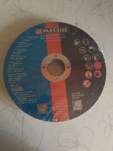 Caja 12 discos de corte metal