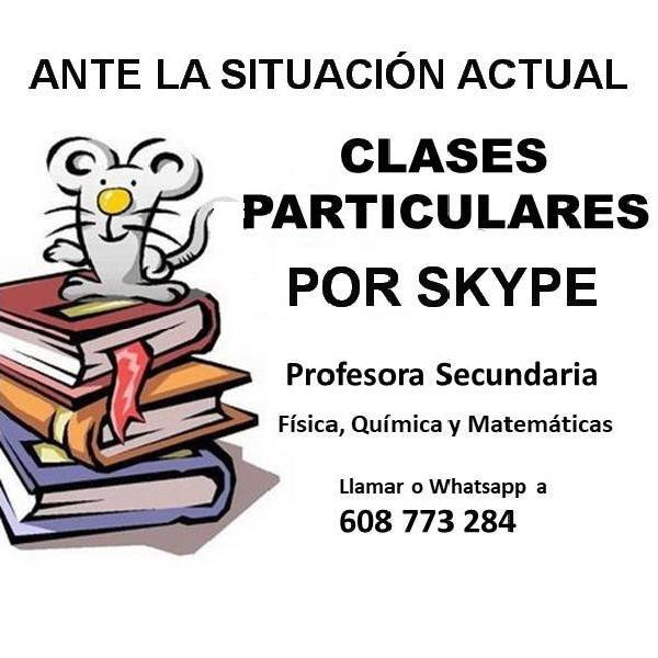 Clases fisica, química y matemáticas a distancia