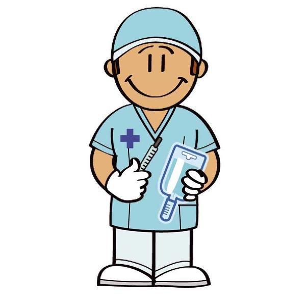 Enfermero cuidador de niños y ancianos