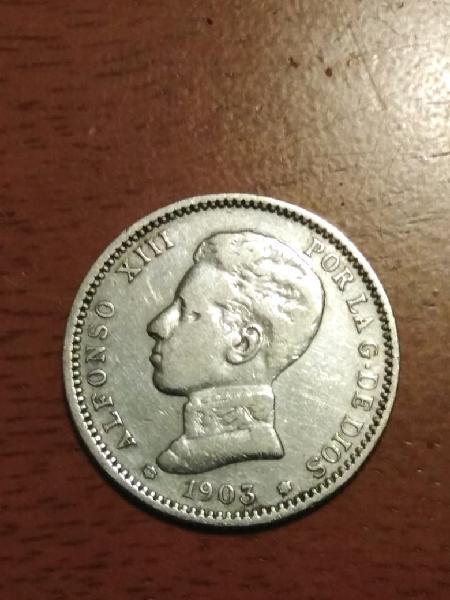 Moneda alfonso xii 1903 de plata